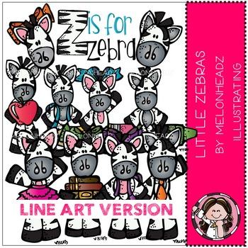 Little Zebras by Melonheadz LINE ART