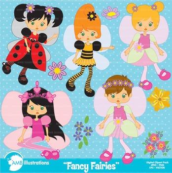 Fairy clipart, Fairies Clipart, Bugs Clipart, AMB-204