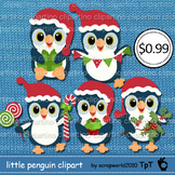 Little penguin Christmas winter clipart Bundle