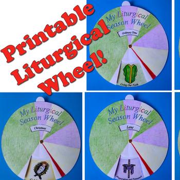 Liturgical Calendar: Printable Wheel Craft For Catholic Kids