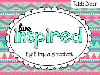 Live Inspired {Table Decor: Inspirational Quotes and Desk
