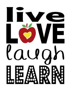Live Love Laugh Learn - Motivational Poster