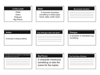 Lively Leads Handout Grade 2