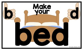 Lively Literacy Make Your Bed Poster (Legal-size) - for b
