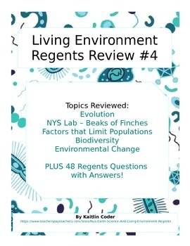 Living Environment Regents Review Packet 4 of 5
