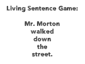*Editable* Living Sentence Template