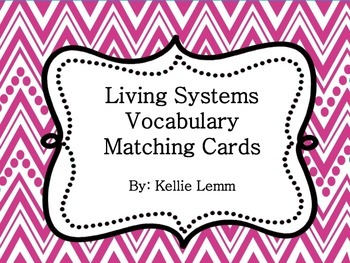 Living Systems Vocabulary Cards