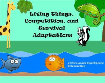 Living Things, Competition, and Adaptations - A Third Grad