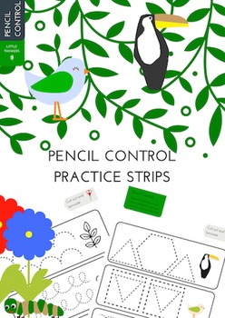 Living Things Themed Pencil Control Strips
