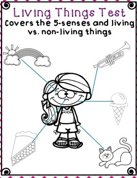 Living Things and 5 Senses Test