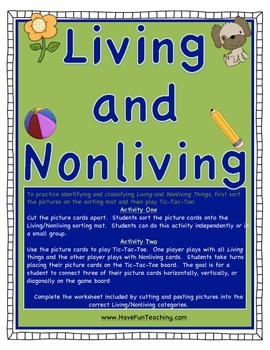 Living and Non-Living Things Activity