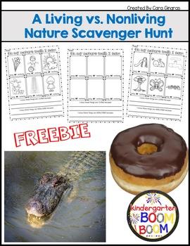 Living and Nonliving - K/1 Scavenger Hunt