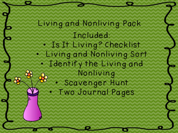 Living and Nonliving Things Pack