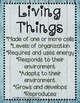 Living and Nonliving Things Sort Center {ABC Order, Anchor