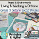 Living and Working in Ontario Grade 3 Unit & Research Reso