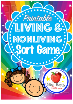 Living and non-living sort game