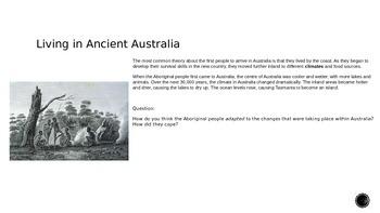 Living in Ancient Australia