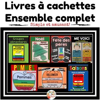Livres à cachettes - Ensemble complet  - French Flip Book Bundle