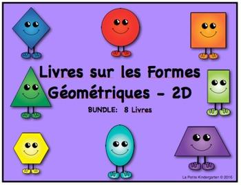 Livres sur les Formes Géométriques - 2D BUNDLE:  8 Livres