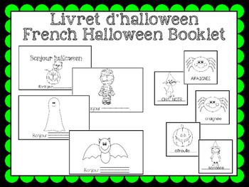 Livret de vocabulaire (halloween) - French vocabulary book
