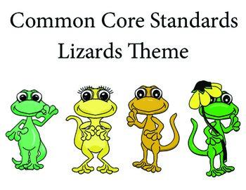 Lizardslizard 1st grade English Common core standards posters