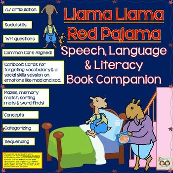 Llama Llama Red Pajama Book Companion:Speech, Language, So