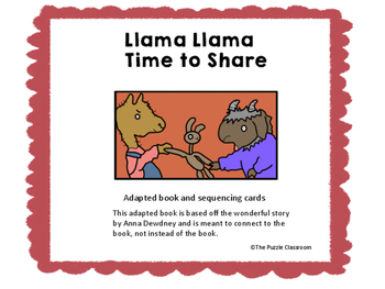Llama Llama Time to Share adapted book