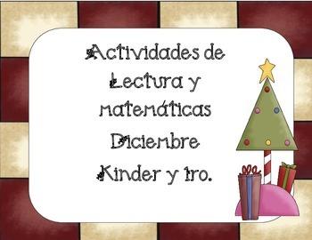 Navidad- Diciembre actividades de Lectura y Matemáticas  K