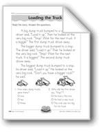Loading the Trucks (Comparatives/Superlatives)
