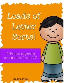 Loads of Letter Sorts - Printable Beginning Letter Sorts f