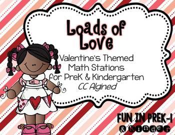 Loads of Love: Valentine's Math Stations for PreK & Kinder