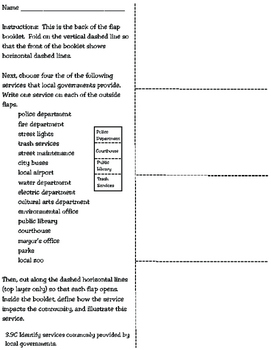 Local Government Services Flap Booklet (3rd Grade Texas So