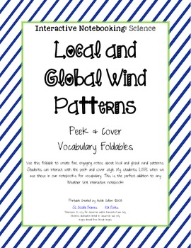 Local and Global Winds - Vocabulary Peek and Cover