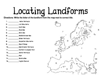 Locating Landforms in Europe