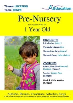 Location - Down : Letter I : Itch - Pre-Nursery (1 year old)