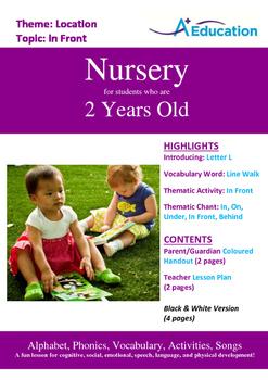 Location - In Front : Letter L : Line Walk - Nursery (2 ye
