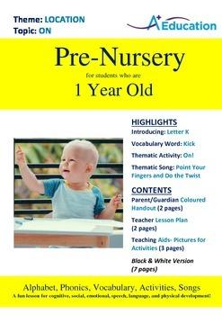 Location - On : Letter K : Kick - Pre-Nursery (1 year old)
