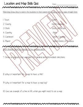 Location and Map Skills Quiz 3.G.1