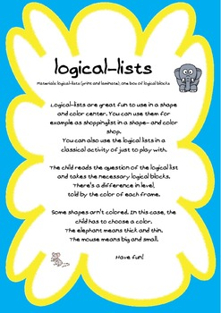 Locical-lists for logical blocks