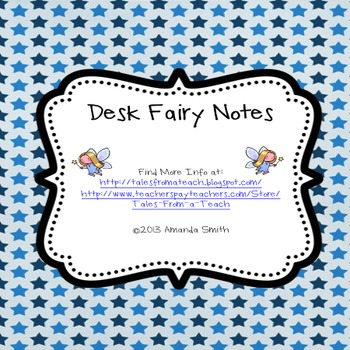 Desk Fairy Notes: Organizational Encouragements for Students