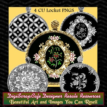 Locket Pendants Pocket Watch Vintage Gothic Clip Art Trans