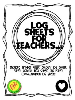 Log Sheets for teachers