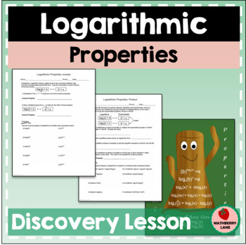 Logarithmic Properties and Change of Base Formula Lesson &