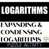 Logarithm Puzzle Activity Mixed Review