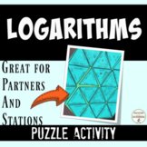 Logarithm Puzzle Activity Mixed Review