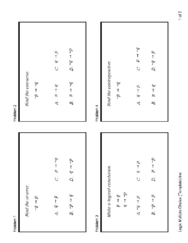 Logic - Converse, Inverse, Contrapositive, Law of Syllogis