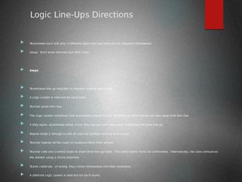 Logic Line Up- Angles/Lines