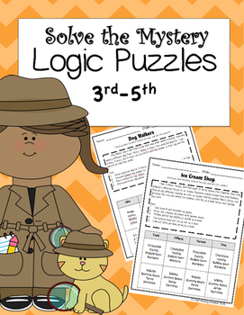Logic Problems for Elementary Students {Math Bundle for Th