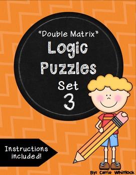 Logic Puzzles - Double Matrix - Set 3