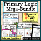 Logic Puzzles : Primary Mega-Bundle for Gifted and Talente
